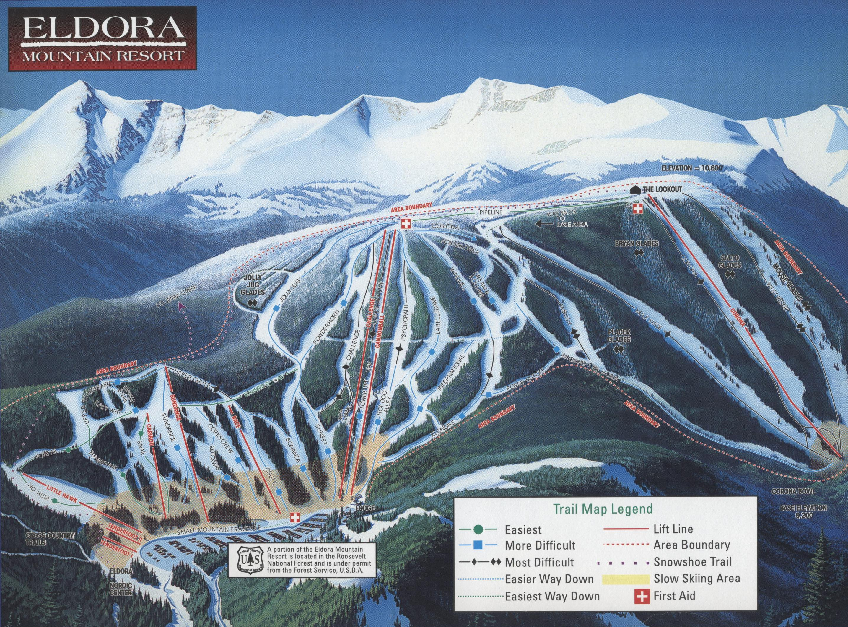 eldora mountain resort - skimap