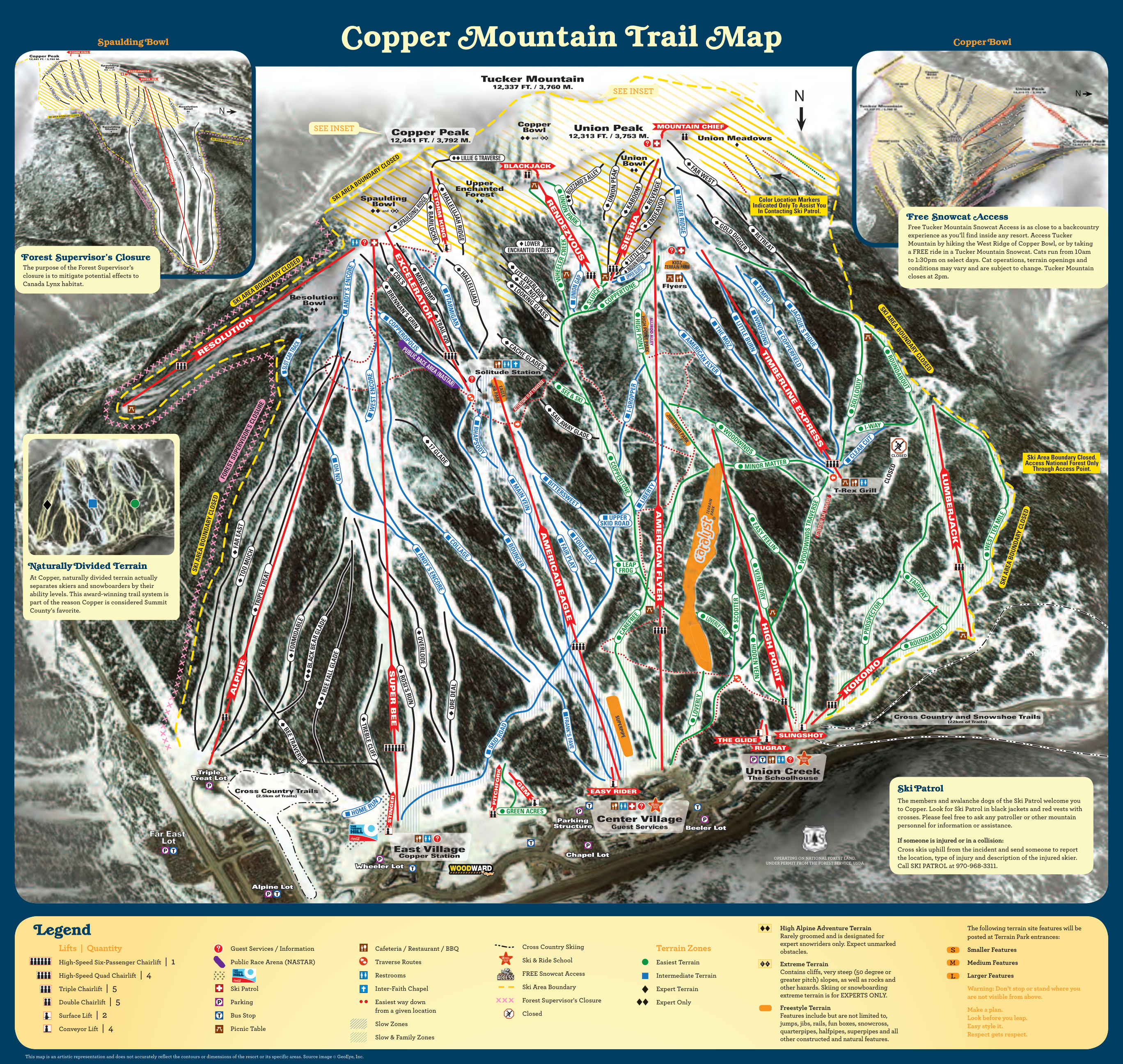 Copper Mountain Map Copper Mountain Resort   SkiMap.org Copper Mountain Map