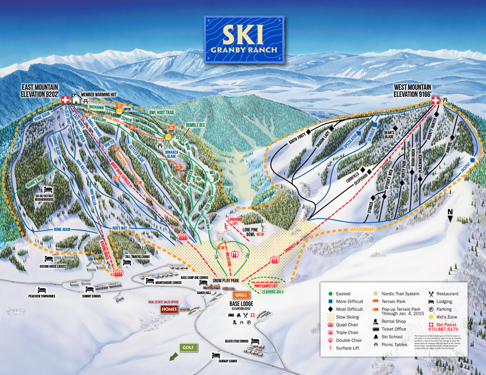 Ski Granby Ranch - SkiMap.org on cowiche canyon map, snow california map, snow united states map, snow mountain resort map, cross country ski park city map, big bend ranch state park map, contact us map,