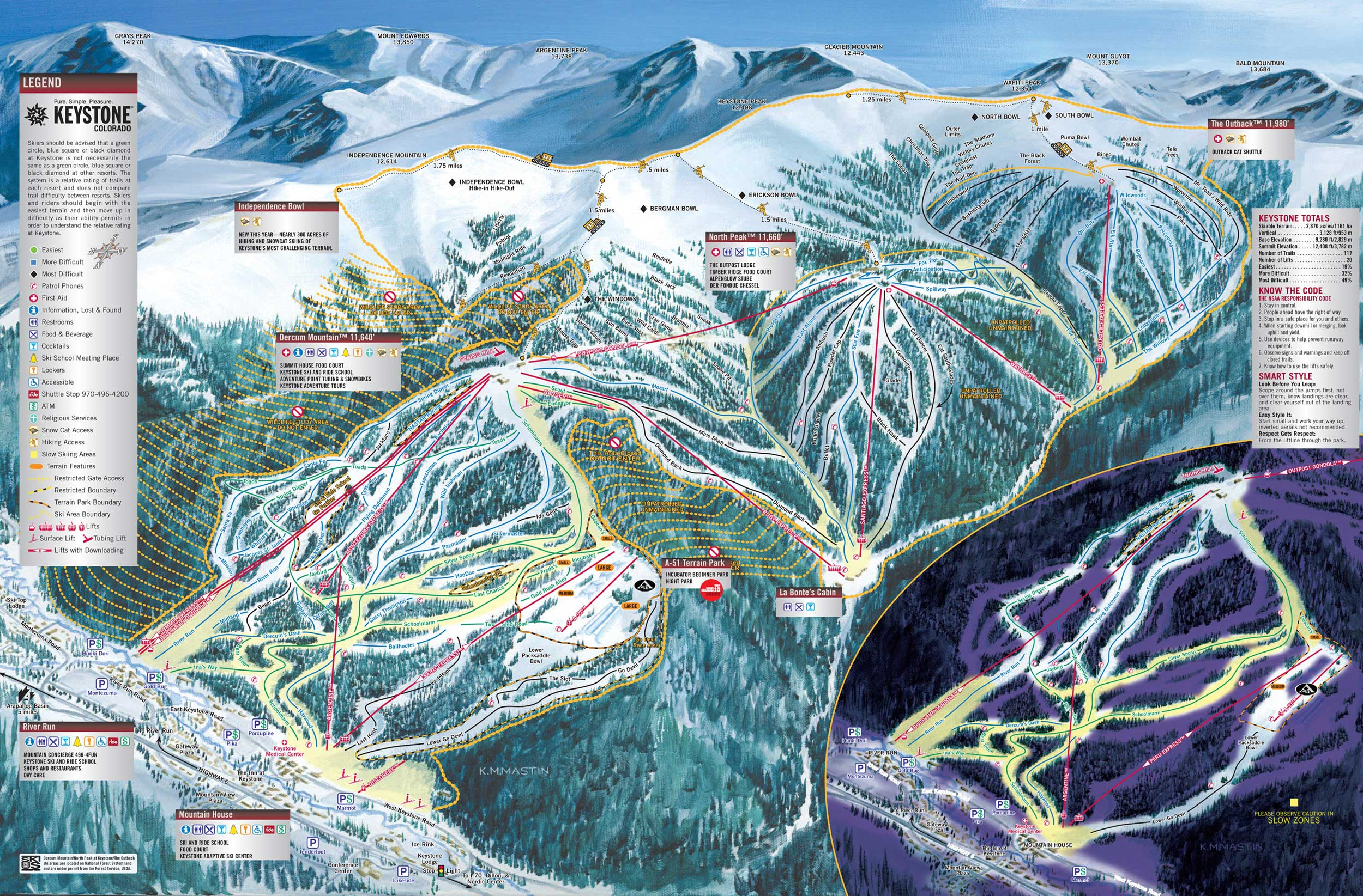 Keystone Resort   SkiMap.org
