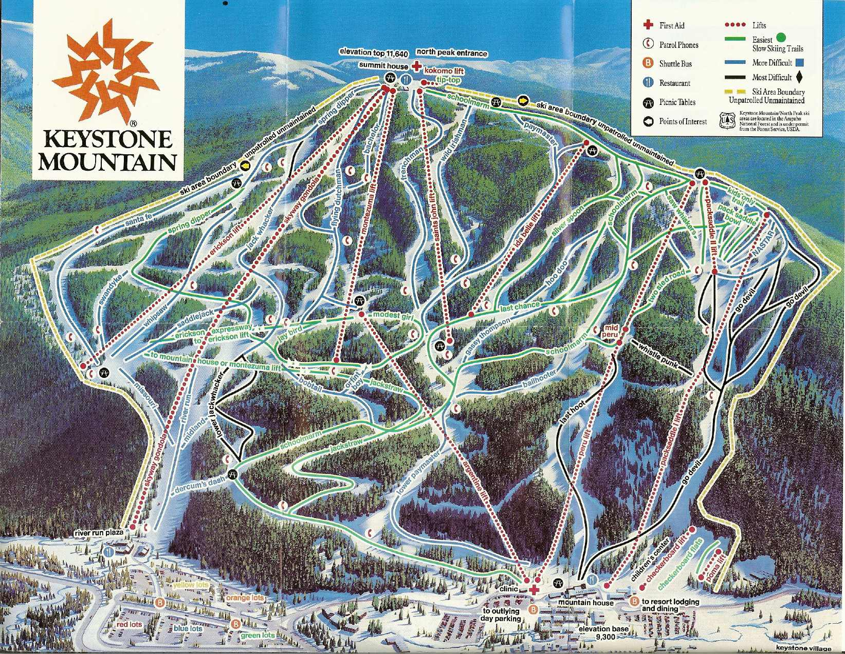 Keystone Resort Map Keystone Resort   SkiMap.org