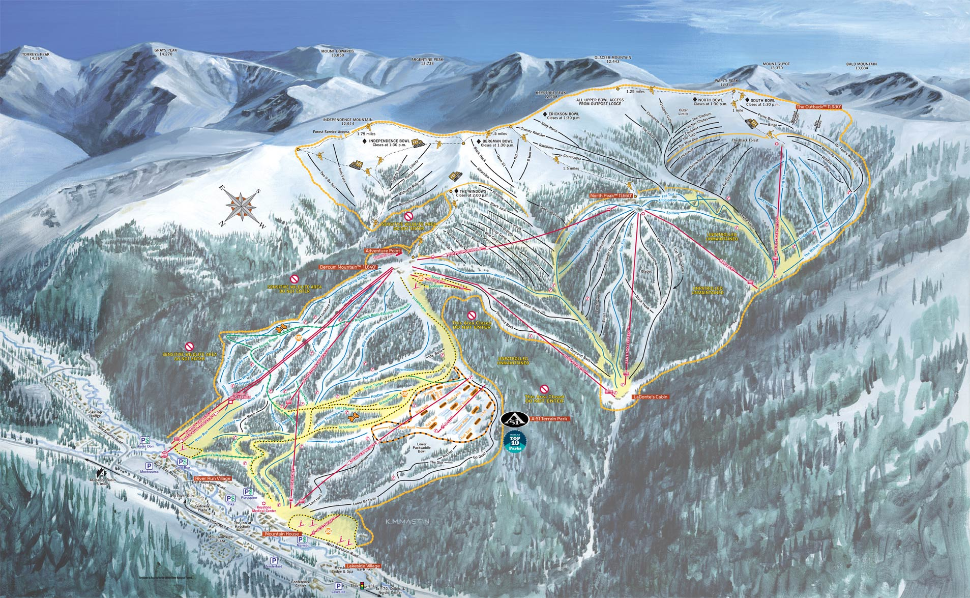 keystone resort - skimap