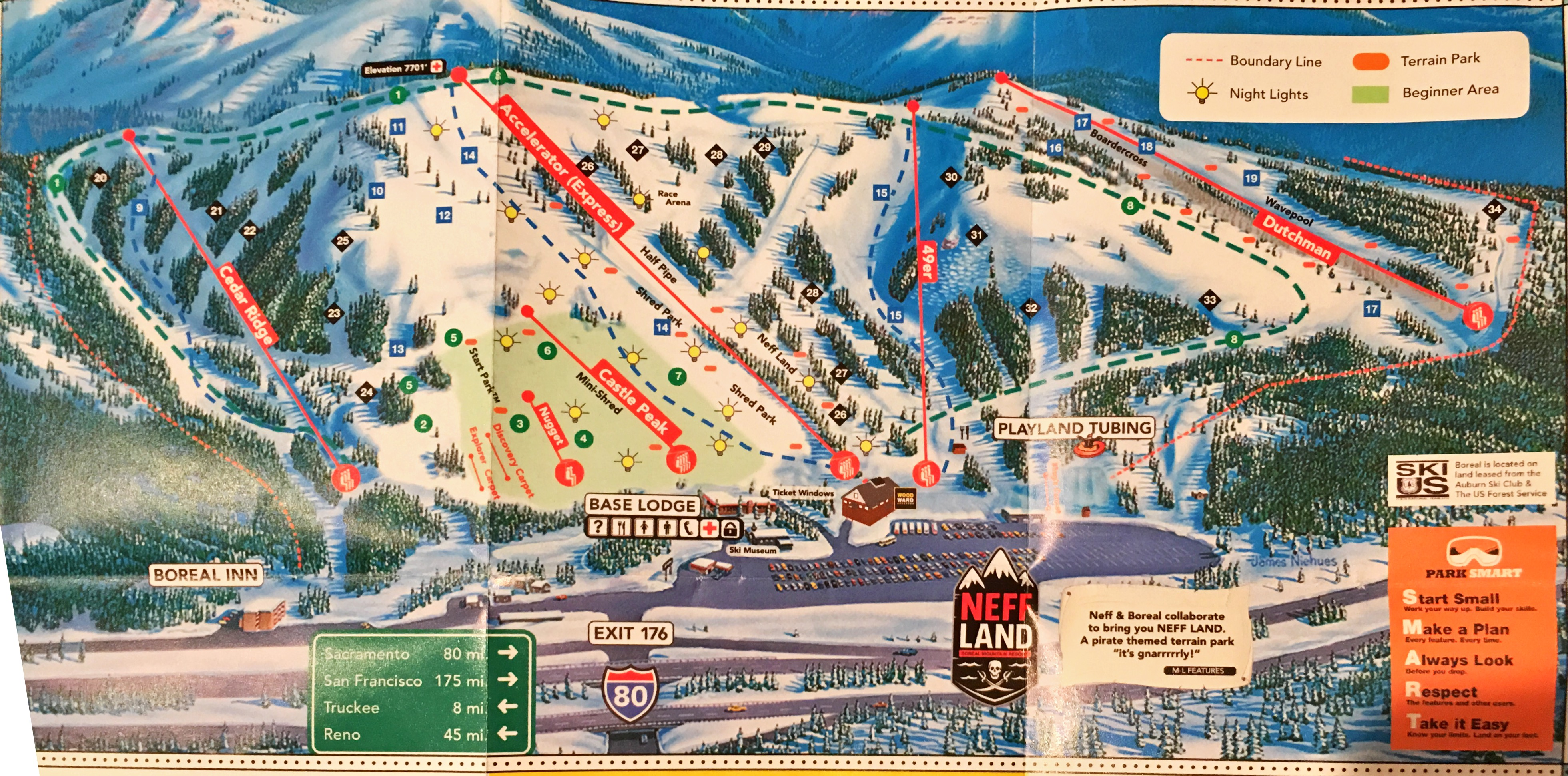 boreal mountain resort - skimap