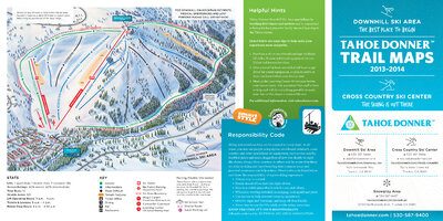 Tahoe Donner 2013/14 DH Ski Map