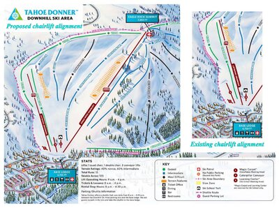 Shows the proposed re-alignment of the new snowbird triple