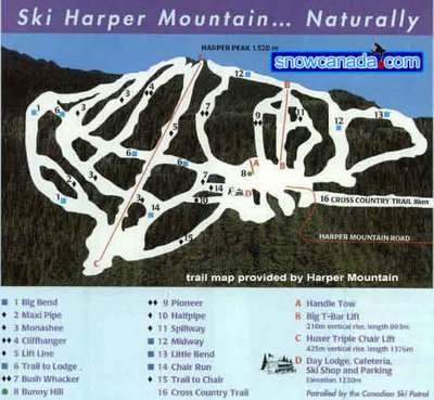 Pre 2004 Harper Mountain Map