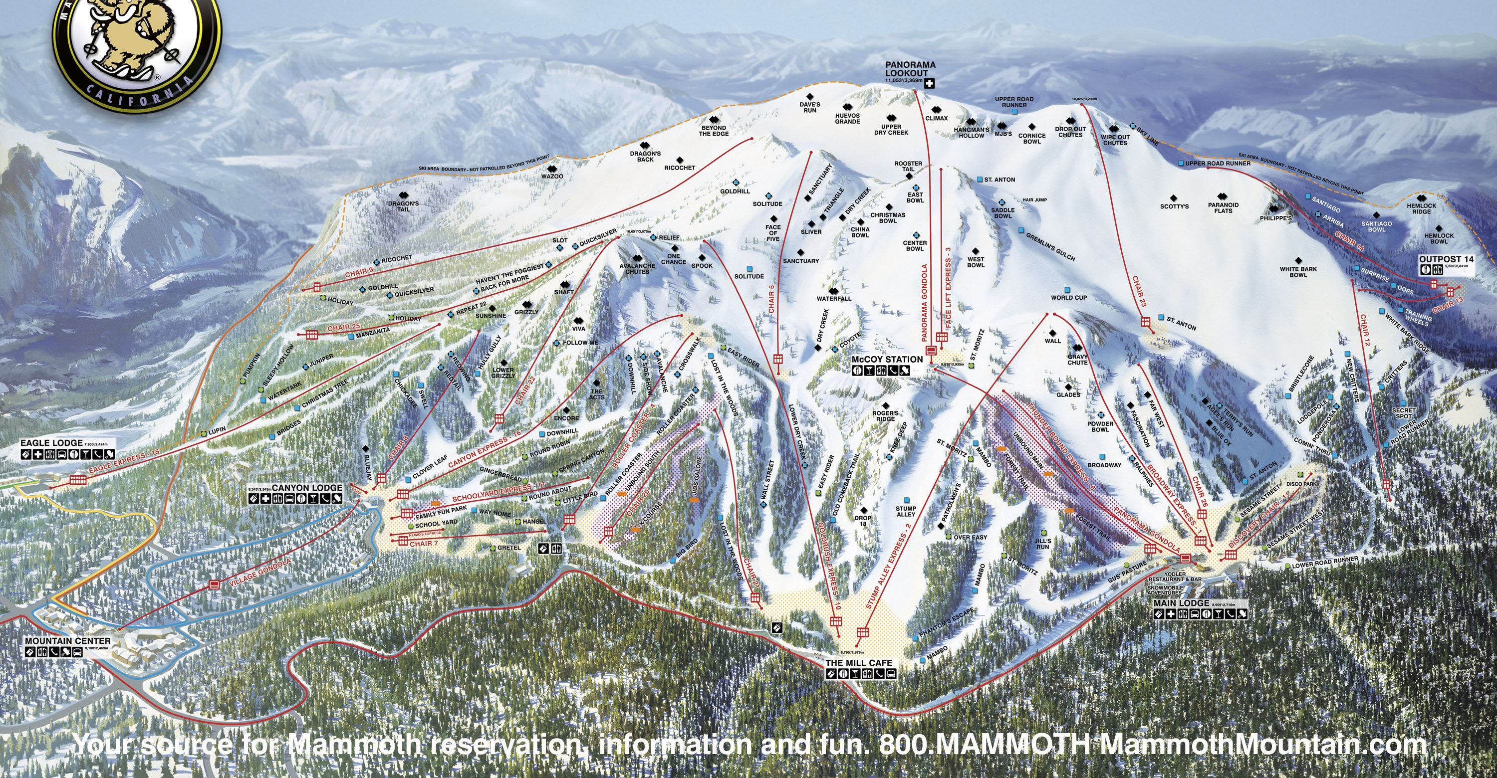 mammoth lakes ski map Mammoth Mountain Skimap Org mammoth lakes ski map