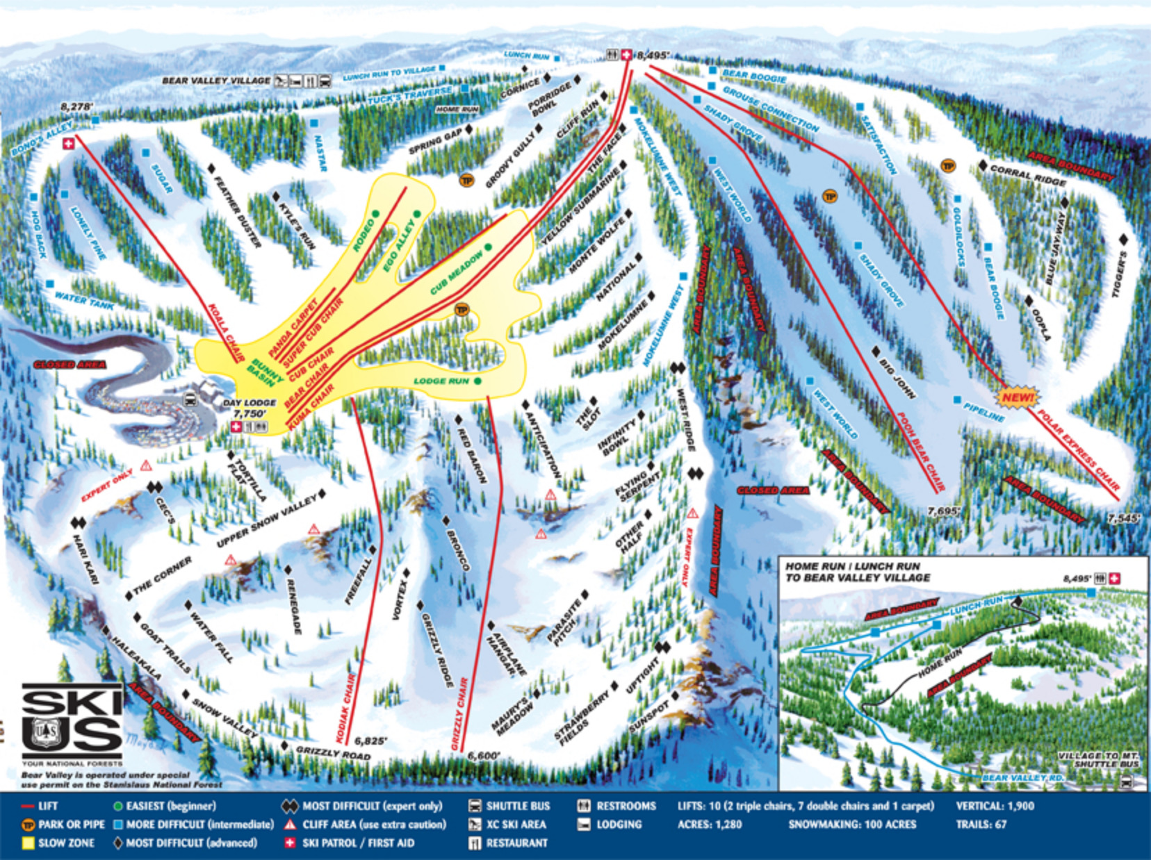 Bear Valley Mountain Resort Skimap Org
