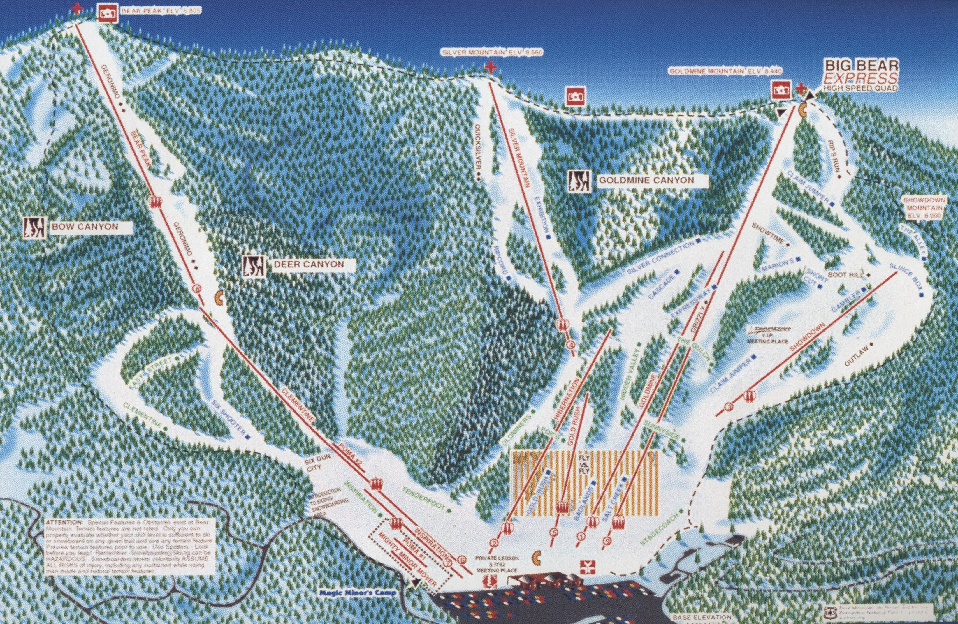 bear mountain resort - skimap