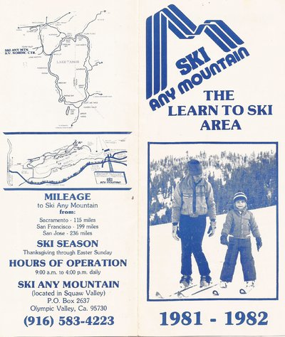Former Papoose area known as Any Mountain before becoming part of Squaw Valley