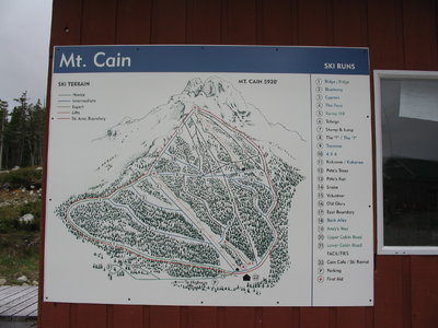 2005-07 Mt Cain Map