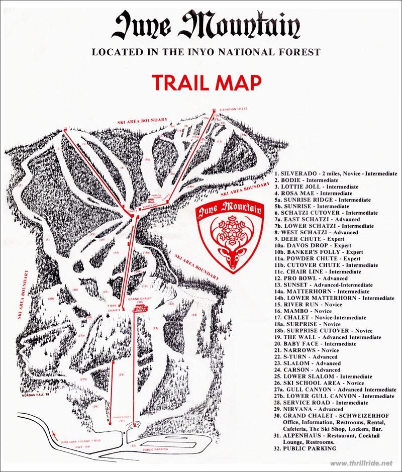 June Mountain - SkiMap.org on