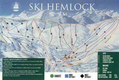 Pre 2002 Hemlock Valley Map