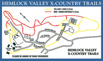 2002-05 Hemlock Valley Cross Country Map