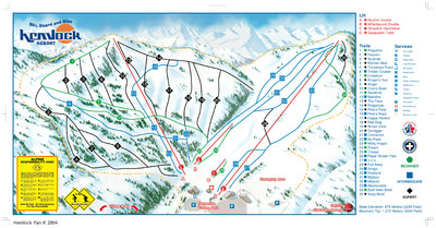 2004-07 Hemlock Valley Map
