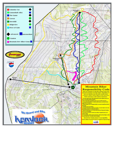 2005 Hemlock Valley Mountain Biking Map