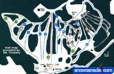 Pre-2004 Mt Timothy Downhill Map