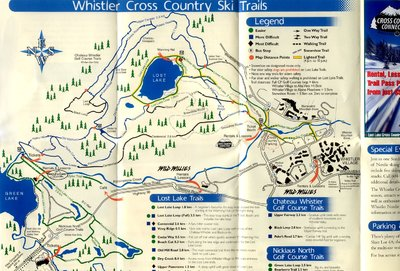 2003-04 XC/Snowshoe Map