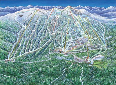 2003-04 Big White Downhill Map