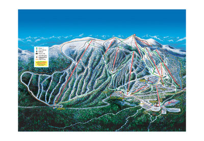 2004-06 Big White Downhill Map with Run Labels