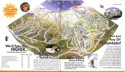 1997-98 Big White Downhill Map