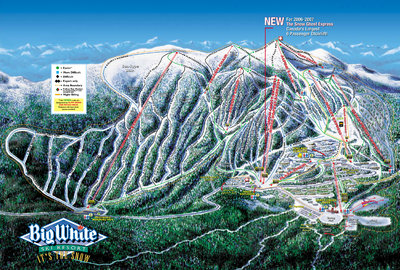 2006-07 Big White Downhill Map