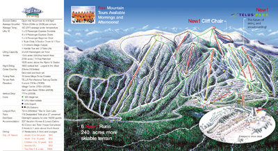 2004-06 Big White Downhill Map with No Run Labels