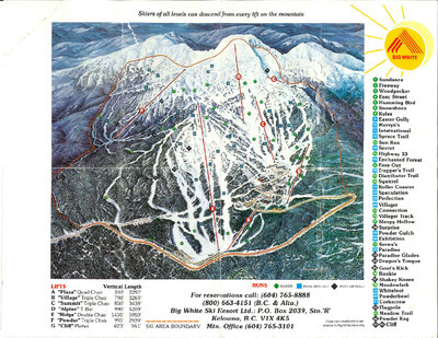 Big White Mountain Guide 1988 - 1989