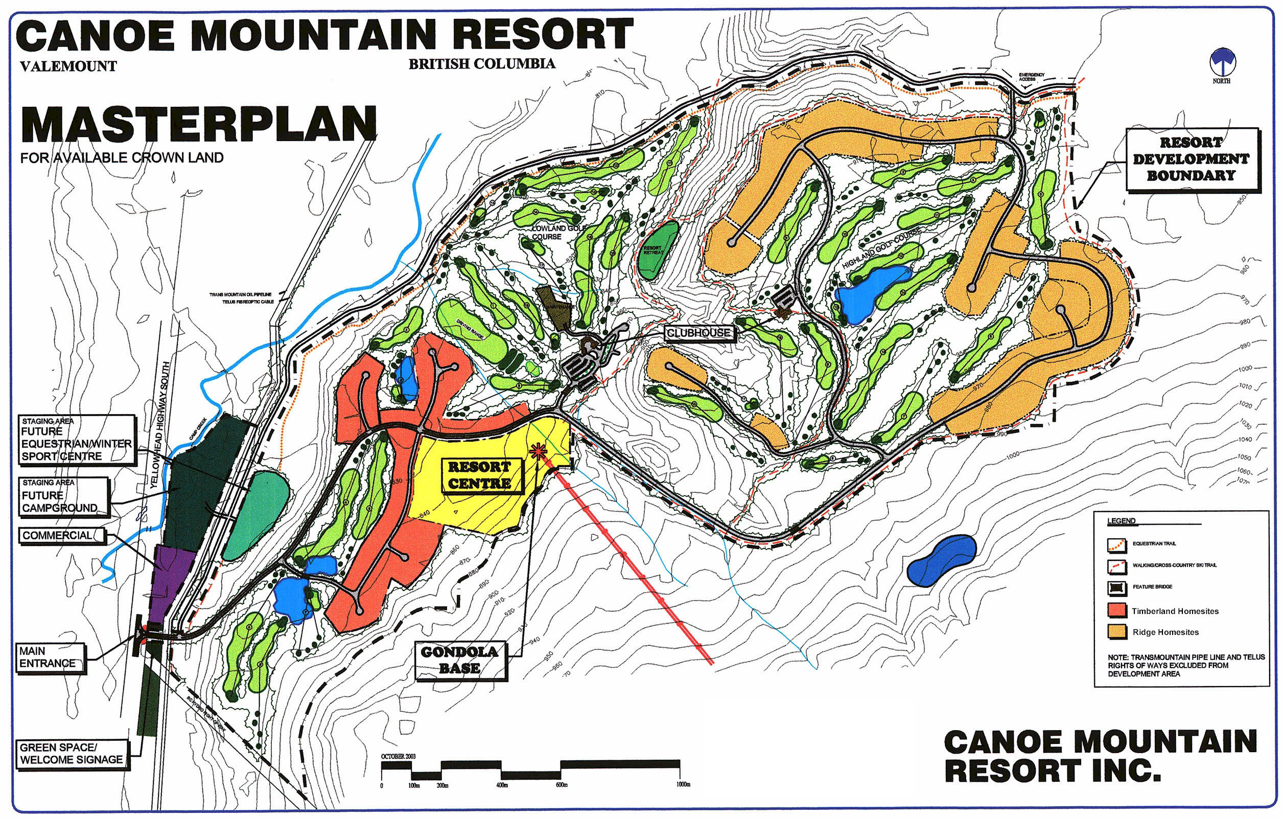 Canoe Mountain Resort Skimap Org