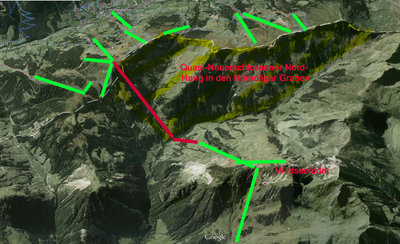 Map showing locations of proposed Gondalas to Link Fieberbrunn with Saalbach-Hinterglemm