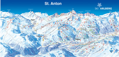 Piste map for 1990/91 season.