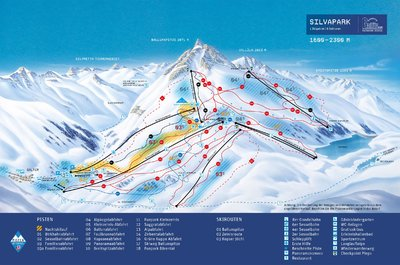 Piste map for Galtur for 2013/14 season