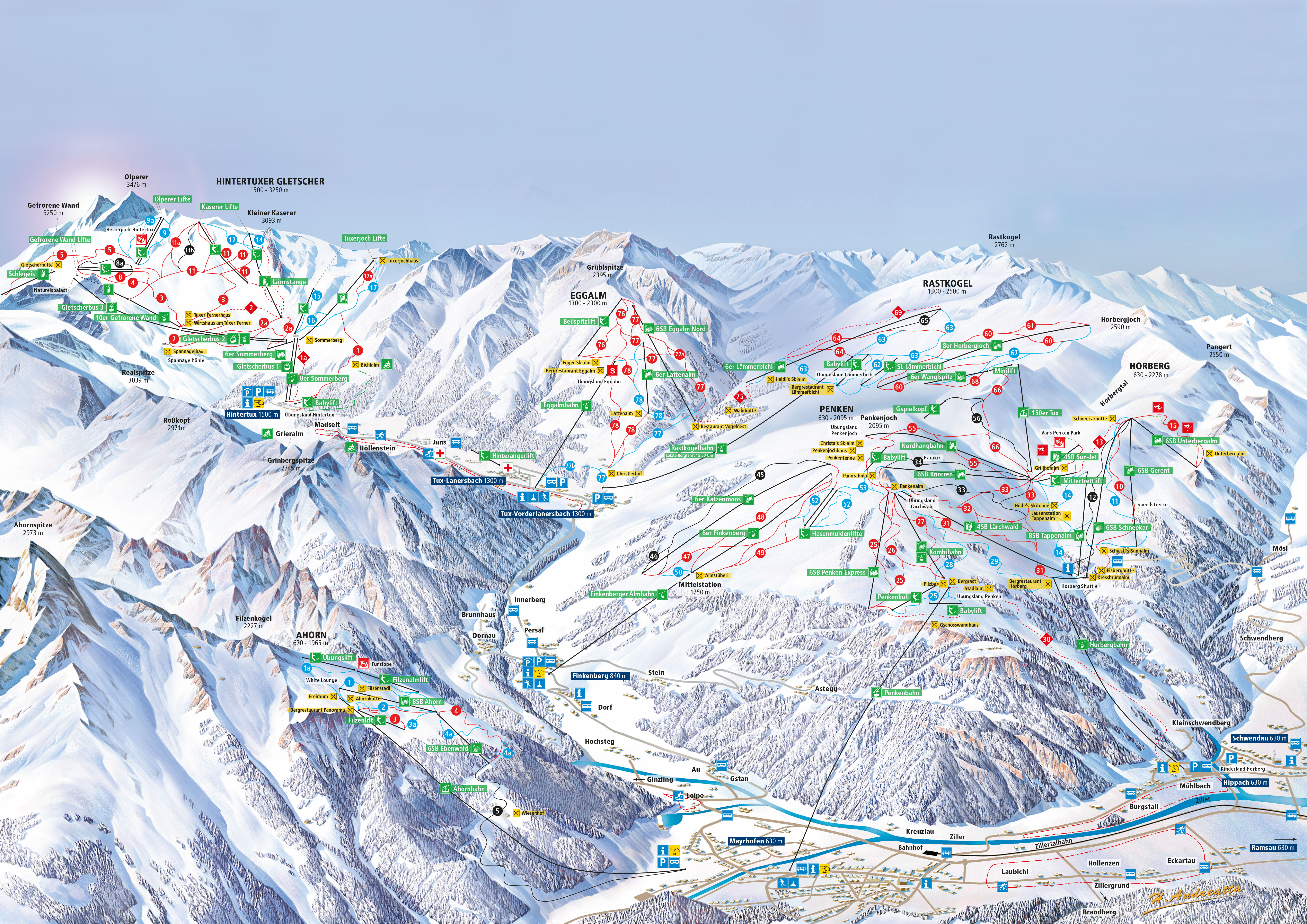 Zillertal 3000 hintertux skimap year published 2014 added by wbski added on 11th apr 2015 gumiabroncs Image collections