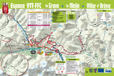 Map of MTB trails along the valley