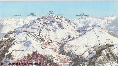 Piste map from 1977.