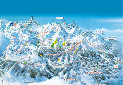 Courchevel Detail Map