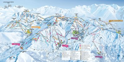 Piste map for 2018/19 season