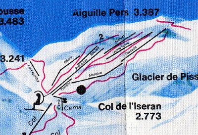 Zoom on the Val d'isere glacier section.