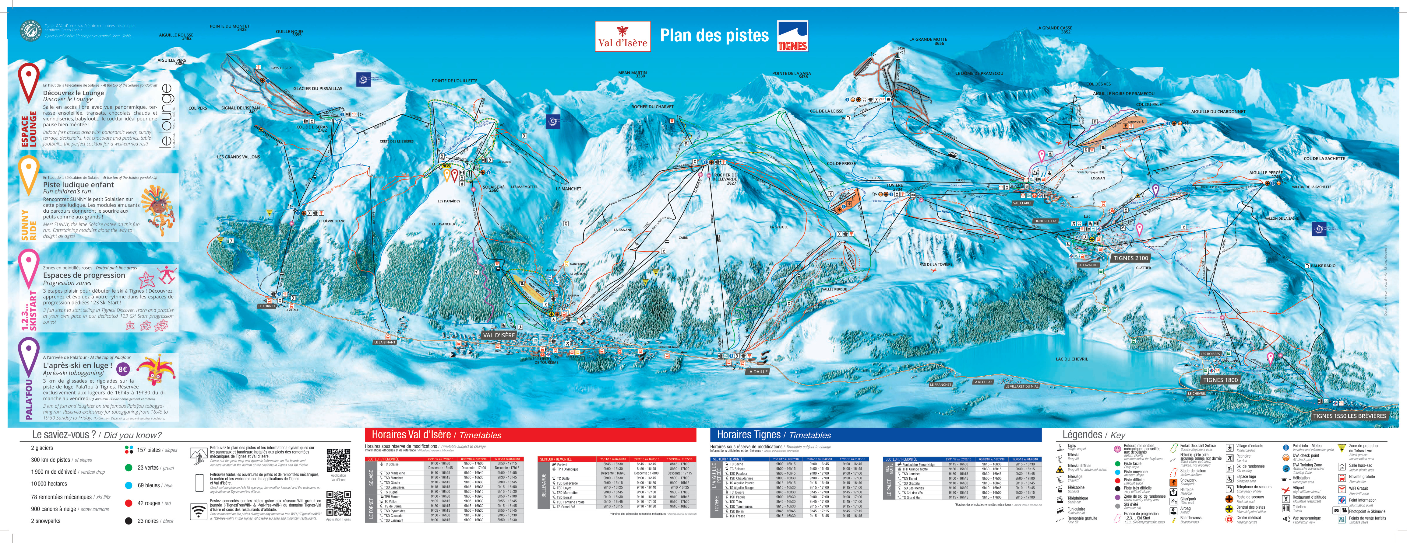 Val D Isere Piste Map Espace Killy (Val D'Isere, Tignes)   SkiMap.org
