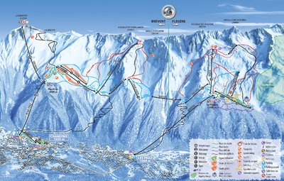 Piste map for 2018/19 season (Brevent/Flegere region)