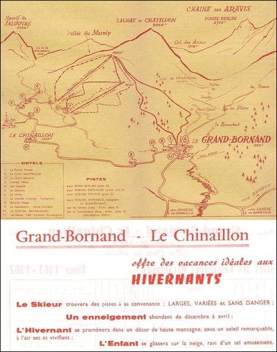 Piste map for 1961/62 season