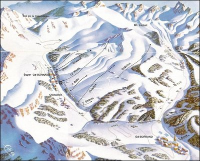 Piste map from 1966/67 season