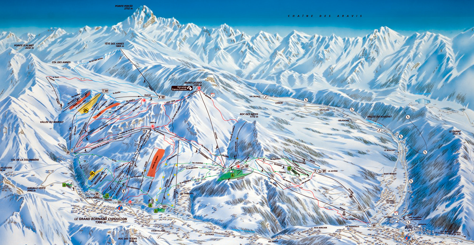 Ski Map Aravis Mountaindirect