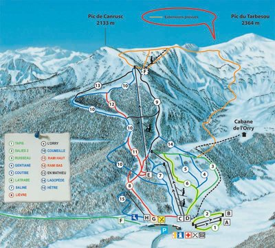 Piste map for 2012/13 season.