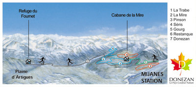 Cross country skiing map